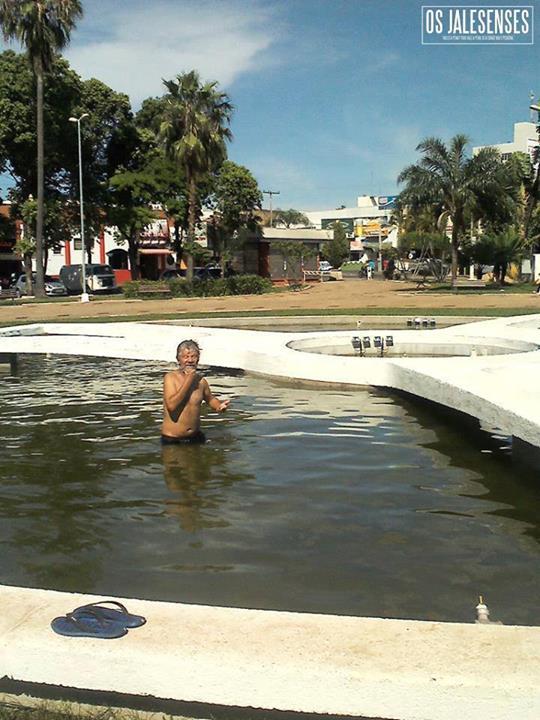 banho na praça