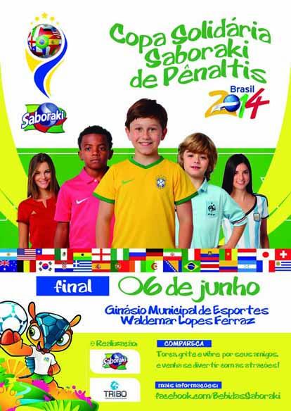 Panfleto Copa Solidária Saboraki de Pênaltis - FRENTE