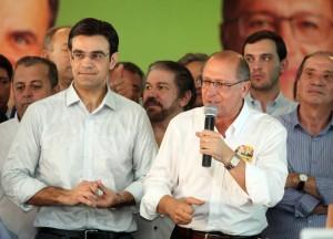 Rodrigo Garcia lança campanha com Aécio, Alckmin, Aloysio e Se