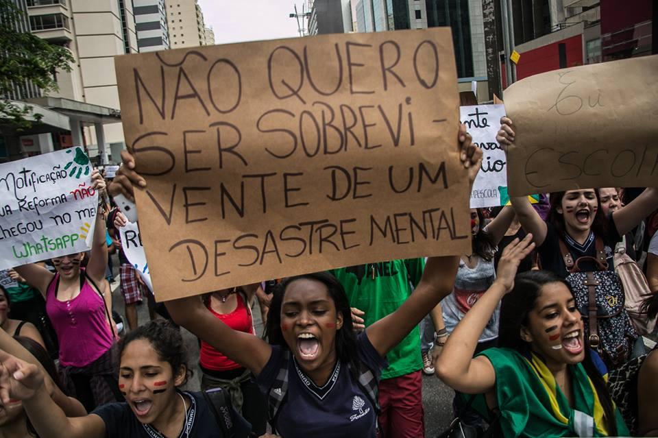 PROTESTO ENSINO SÃO PAULO