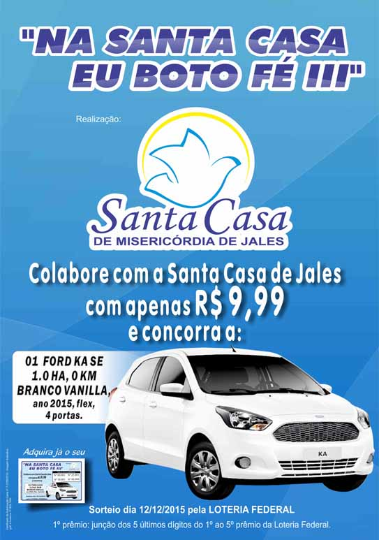 Cartaz Carro sorteio 2015