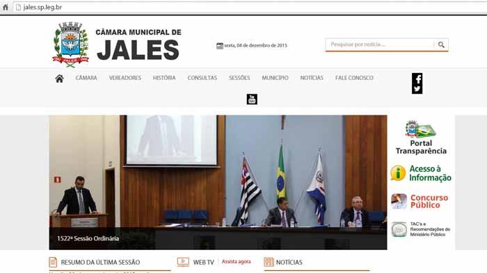 Site - Câmara de Jales