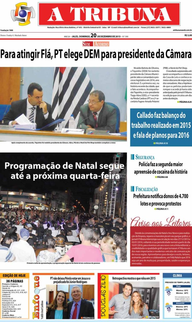 capa tribuna 20.12.15