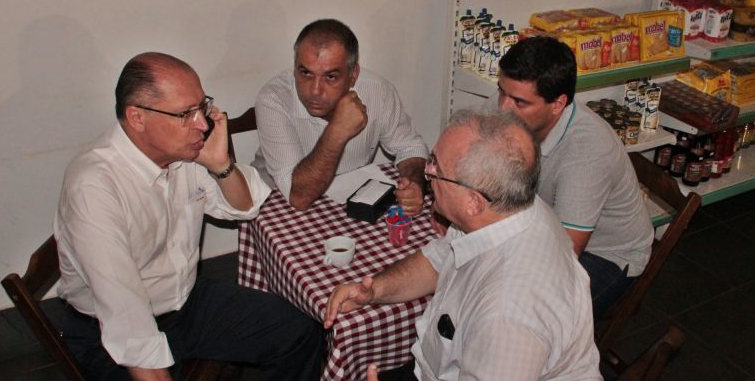 Callado e Alckmin na padaria
