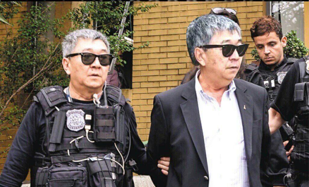 japonês da federal prendendo japa da PF