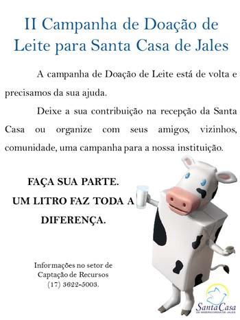 SANTA CASA Campanha do Leite