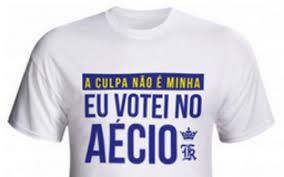 camiseta votei no aécio
