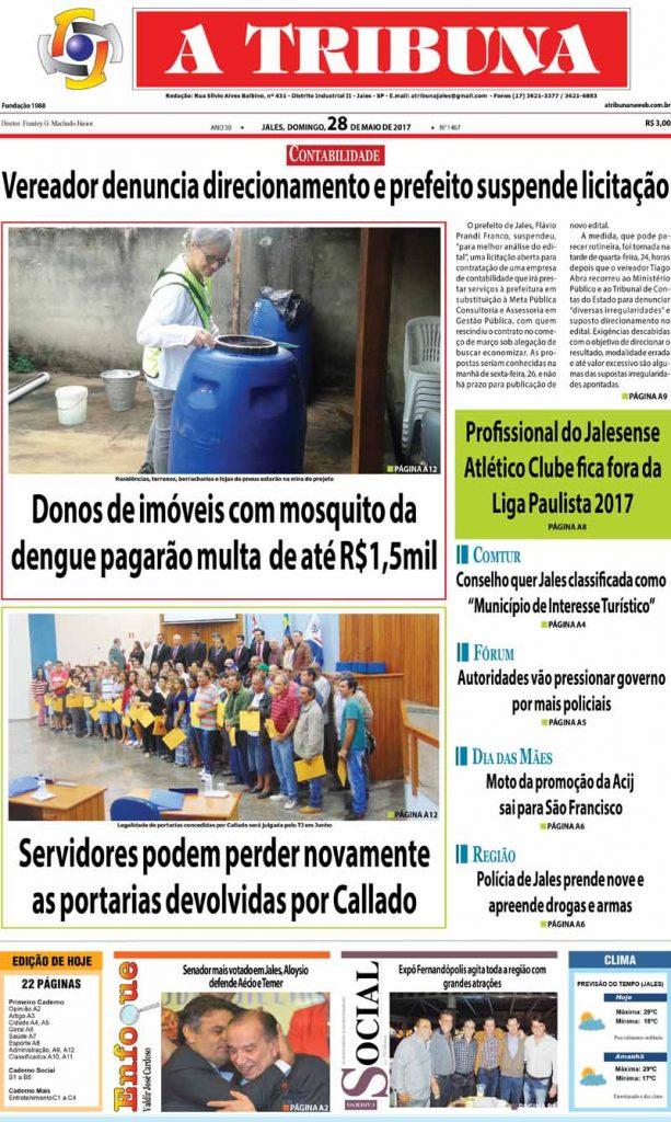 capa Tribuna 28.05.17